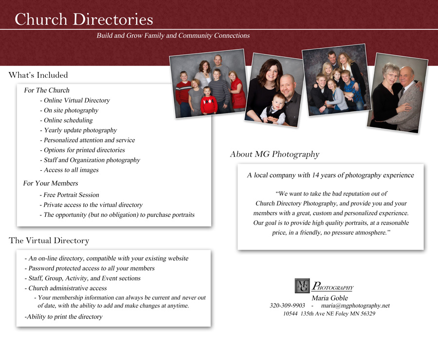 MG Photography - Church Directories